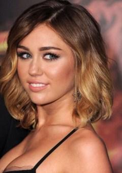 Miley Cyrus wavy lob hairstyle
