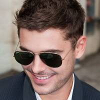 Zac Efron short textured haircut