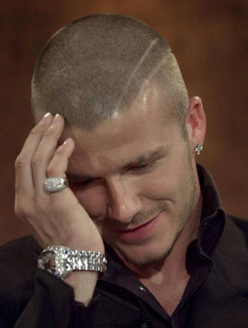 David Beckham shaved pattern