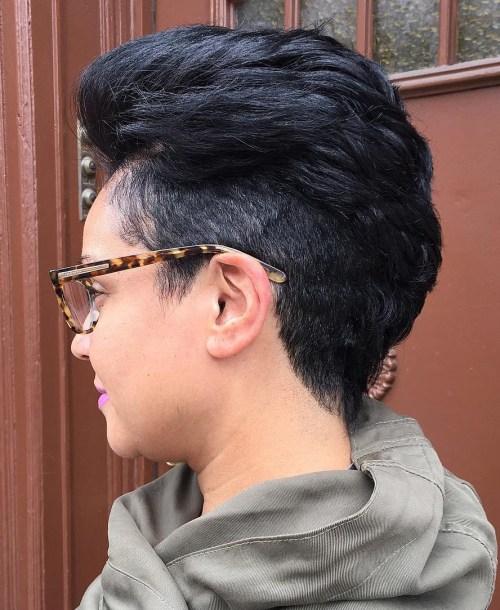 Women's Short Undercut Haircut