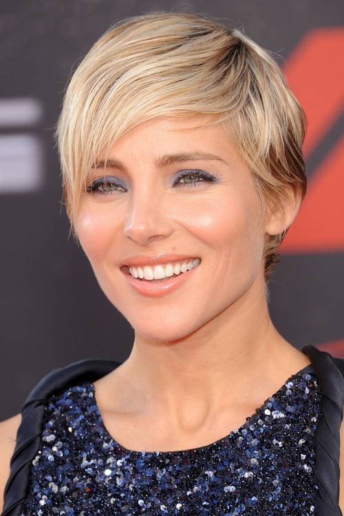 pixie hairstyle with a side fringe