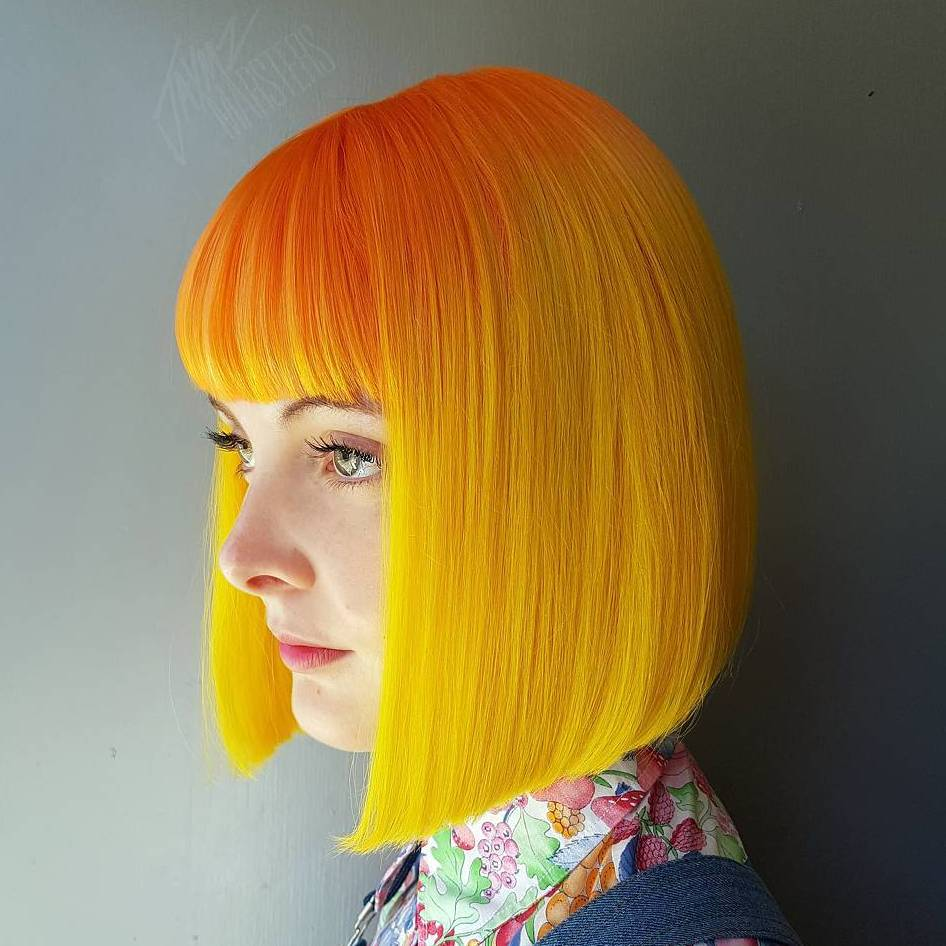 Yellow And Orange Bob