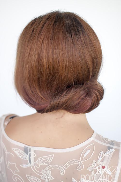 easy loose bun updo for long hair