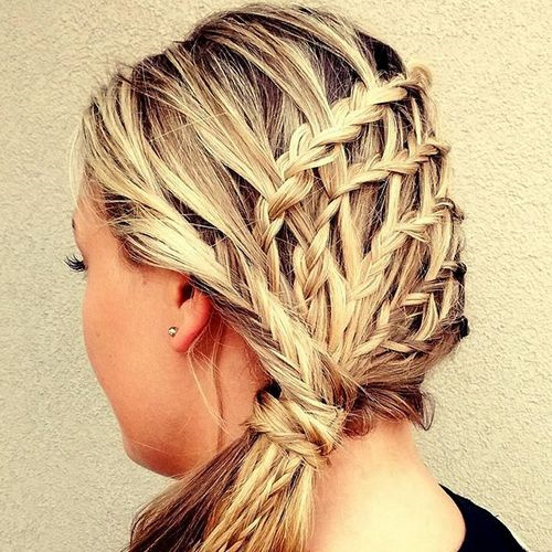 braids and ponytail hairstyle