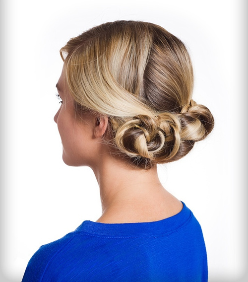 easy triple bun updo for long hair