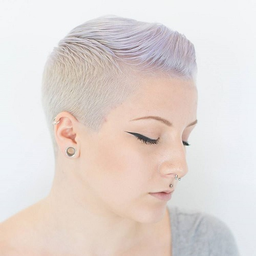 Extra Short Ash Blonde Pixie