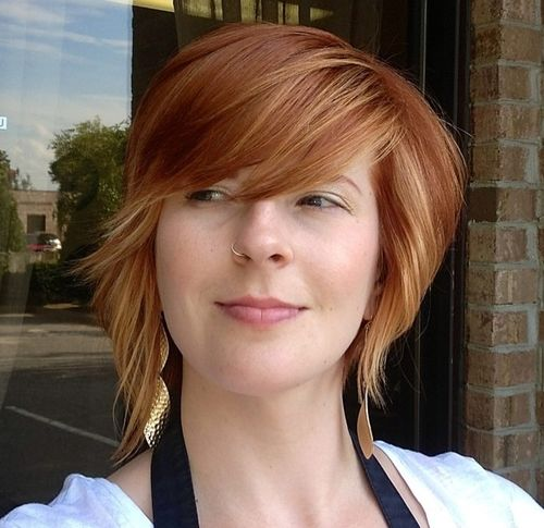 short red layered hairstyle
