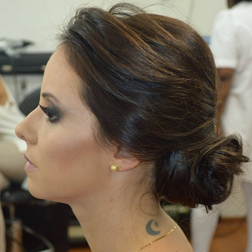 Messy Side Bun Formal Updo