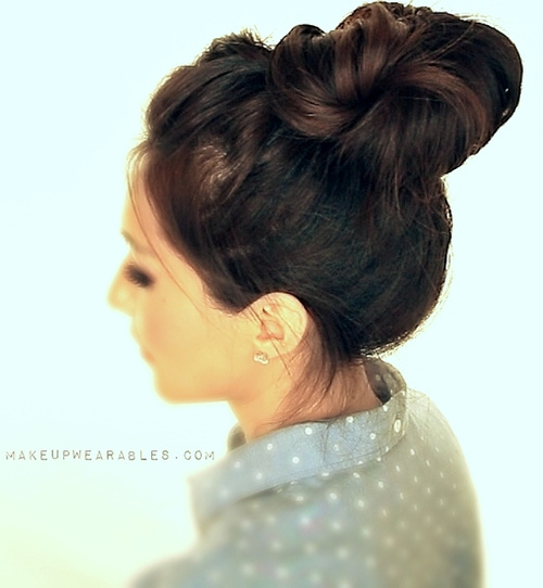 easy braid and bun updo for long hair