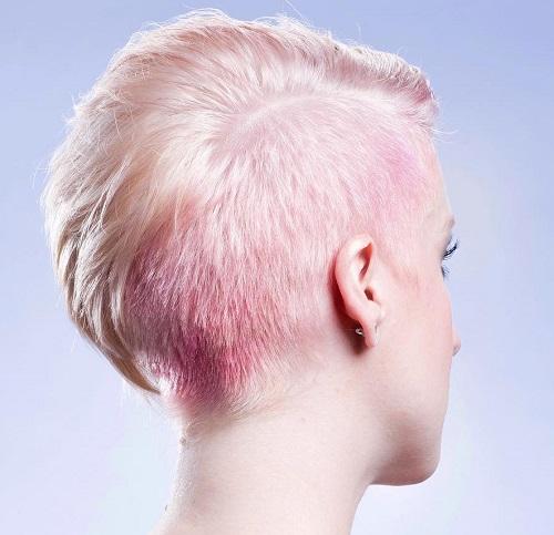 Asymmetrical Pastel Pink Pixie