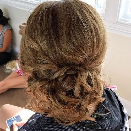 Low Curly Loose Bun