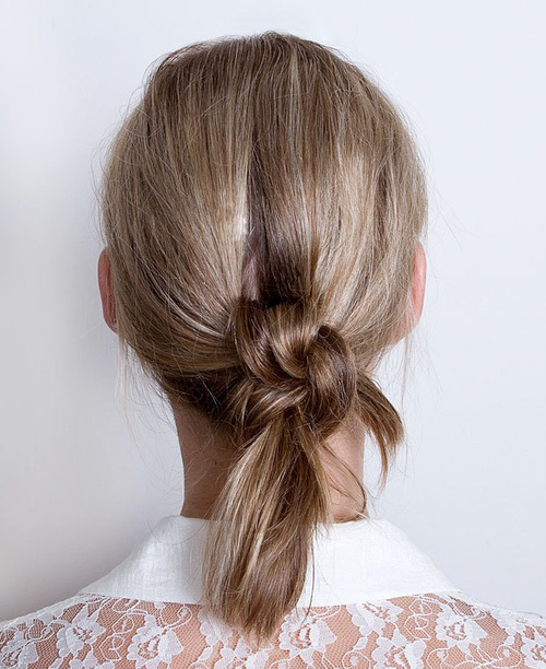 quick knotted updo