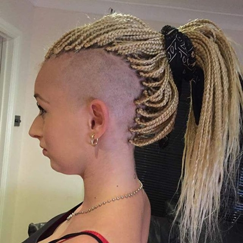 box braids and Mohawk for women