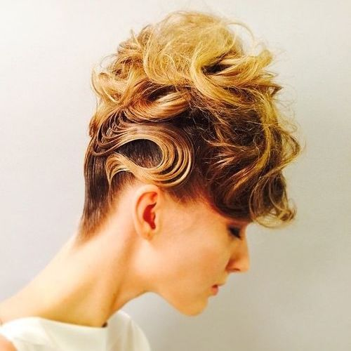 creative messy curly updo