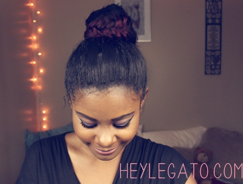 cute updo hairstyle for black women