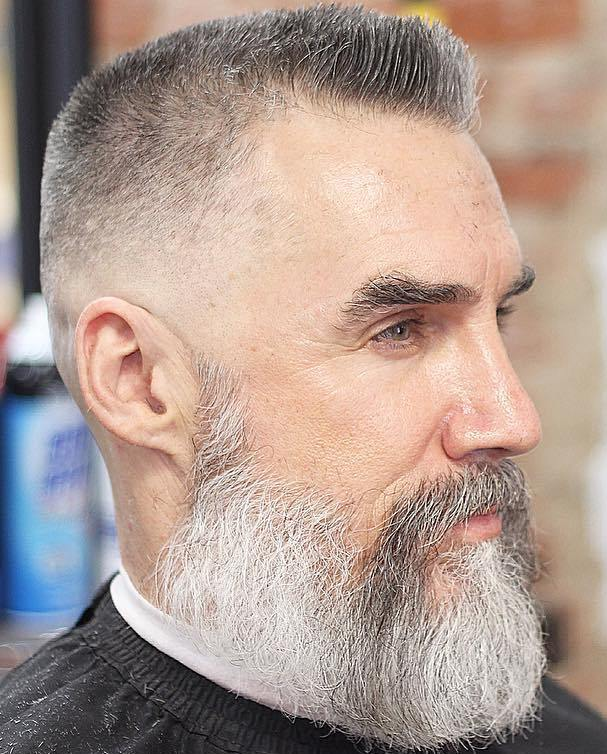 Hairstyles for balding men with beards
