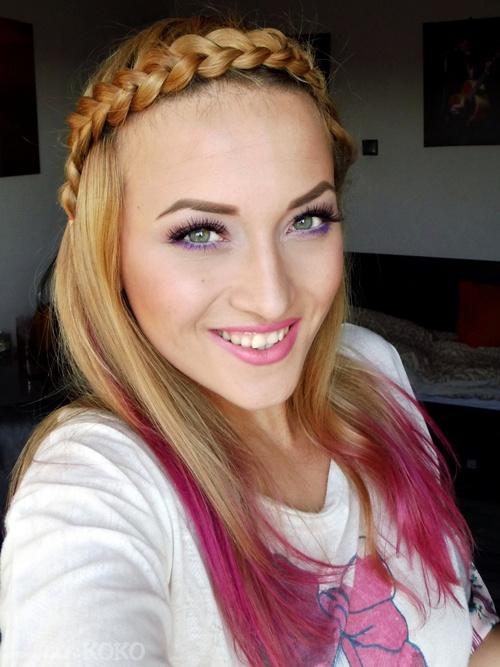 crown braid in half up hairstyle