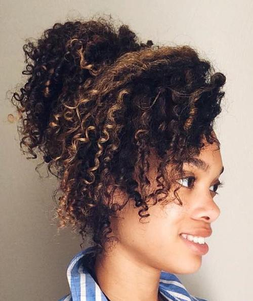 pony updo for natural hair