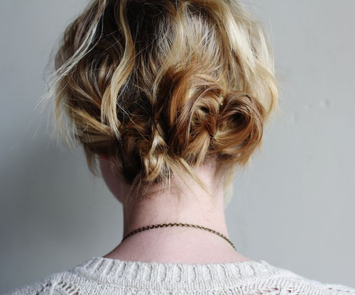 messy updo for short hair