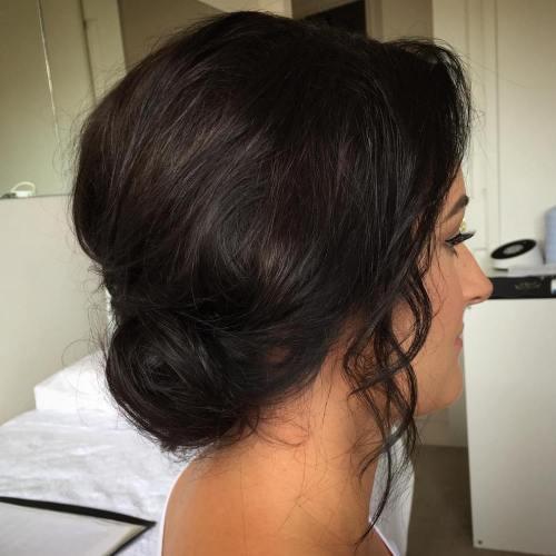Chignon Updo For Bob Length Hair