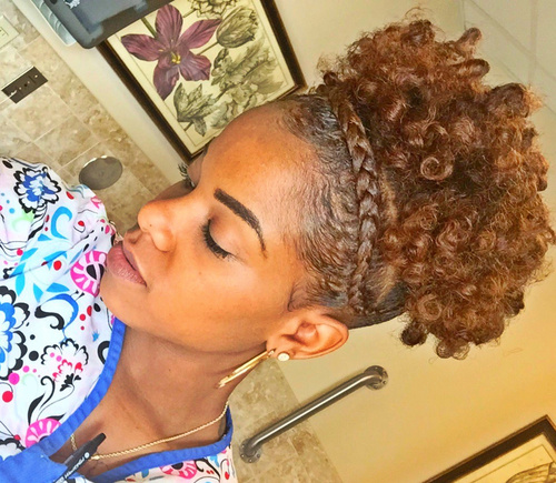 curly updo  for short natural hair