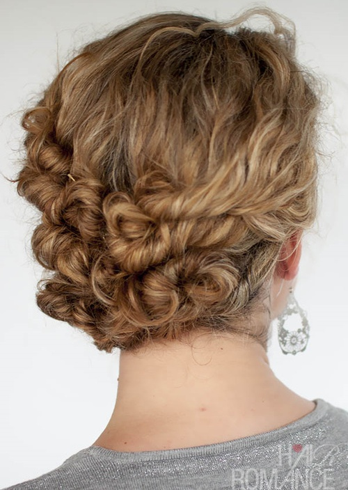 twisted curly updo