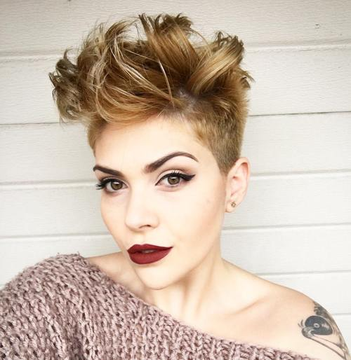 Women'S Long Top Short Sides Hairstyle