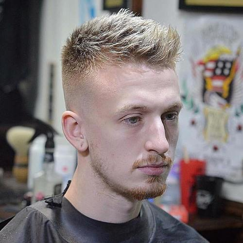 Men's Spiky Fade Haircut