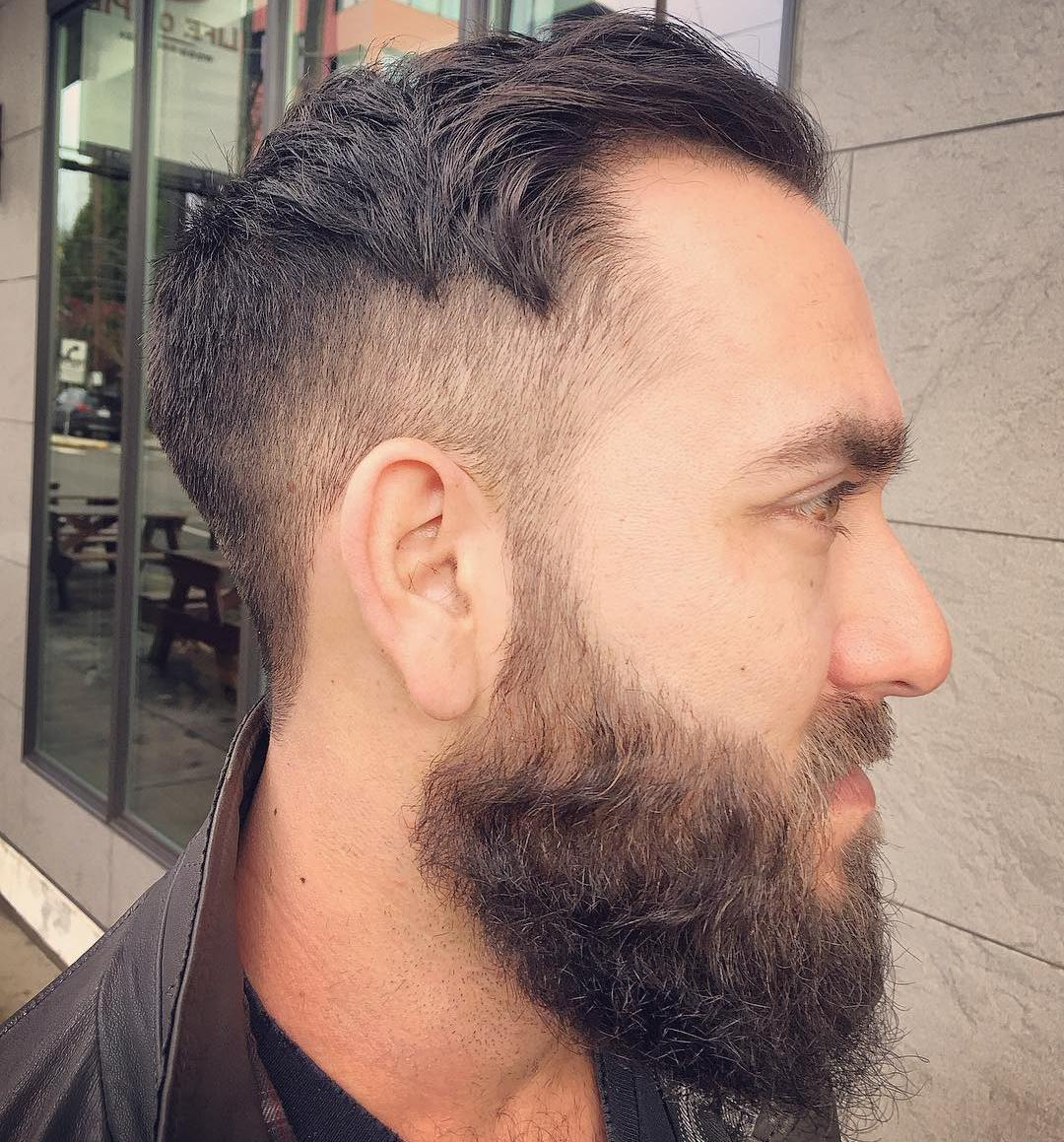 Tapered Hipster Cut with Beard