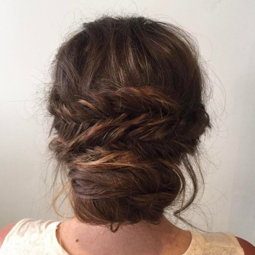Messy Low Bun With A Braid