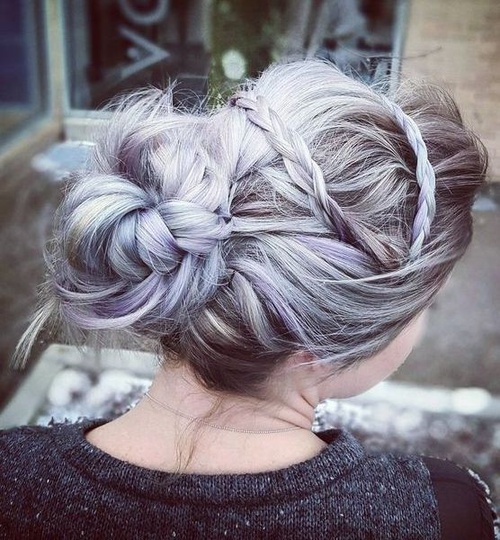 Messy Braided Bun Updo