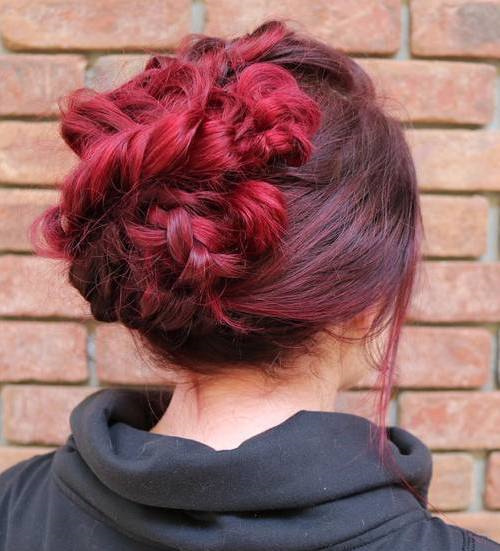Casual Updo With Messy Braids