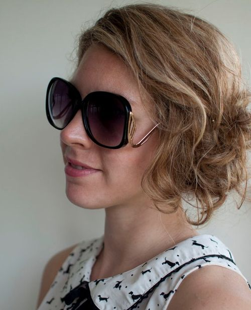 messy curly updo for thin hair
