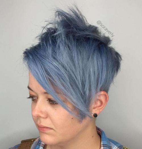 Pastel Blue Spiky Pixie Bob