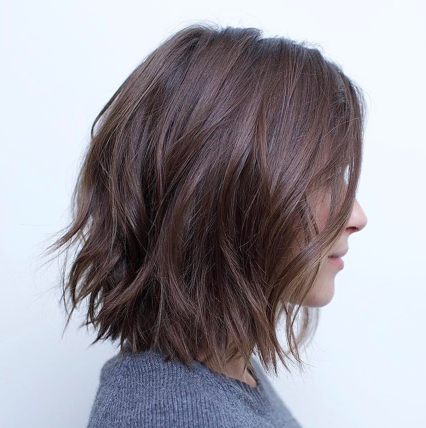 70 Fabulous Choppy Bob Hairstyles     Best Textured Bob Ideas Messy Bob With Jagged Ends