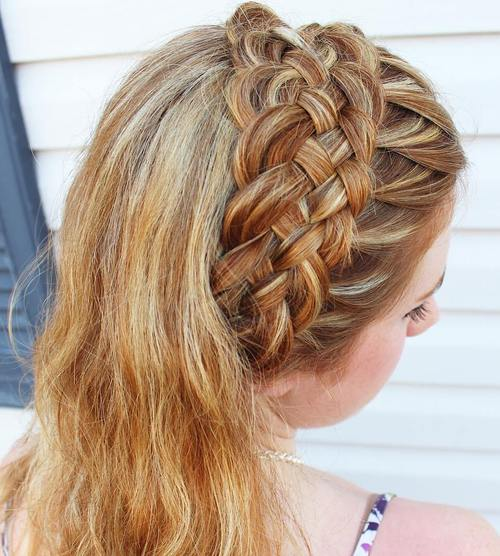 basket weave headband braid
