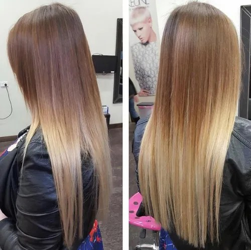 Sleek and sexy hair beauty with ombre straight hair - Ombre braun blond ...