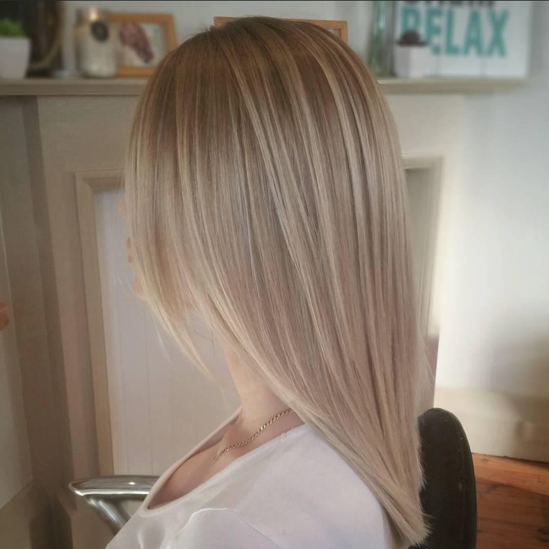 1 Medium Layered Bronde Hairstyle. brown blonde hair with balayage highlights