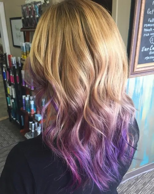 purple ombre for brown blonde hair
