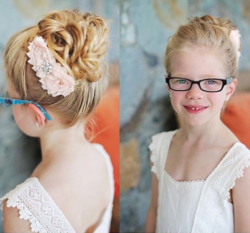 curly updo for little girls