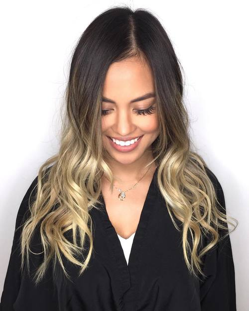 40 glamorous ash blonde and silver ombre hairstyles - Ombre braun blond ...