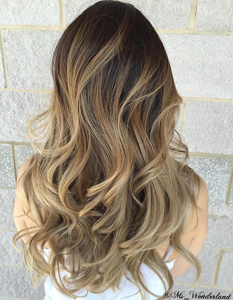 Golden brown blonde balayage - Ombre braun blond ...