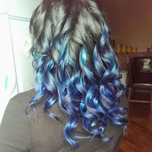 blue and lavender highlights