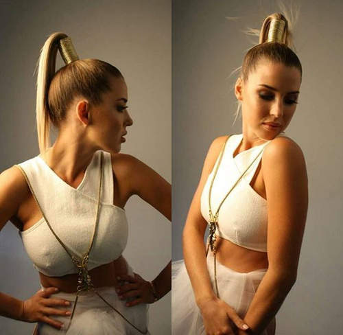 high ponytail for thin straight hair