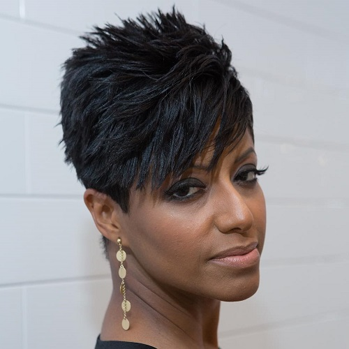 African American Chopped Pixie