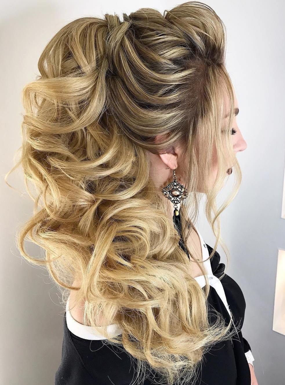 Ponytail For Long Highlighted Hair