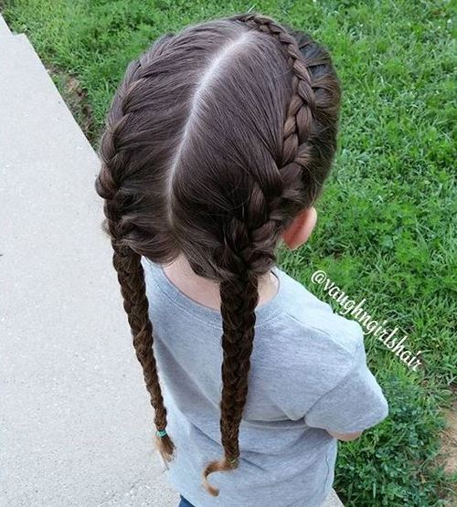 two braids hairstyle for girls