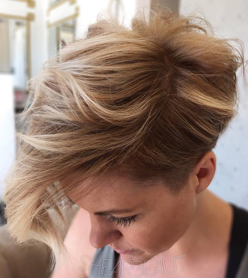 Tousled Pixie Hairstyle With Bangs
