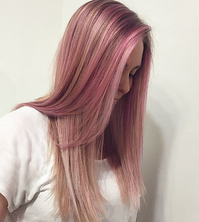 Dark Hair With Pink Highlights Choice Image Hair Extensions For