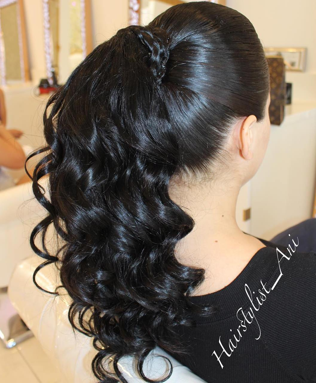 Ponytail With A Braided Hair Wrap